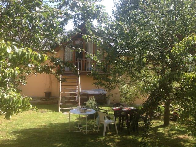 Loft-buhardilla con jardín.