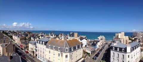 Studio Le Ciel de Saint-Malo vue mer panoramique