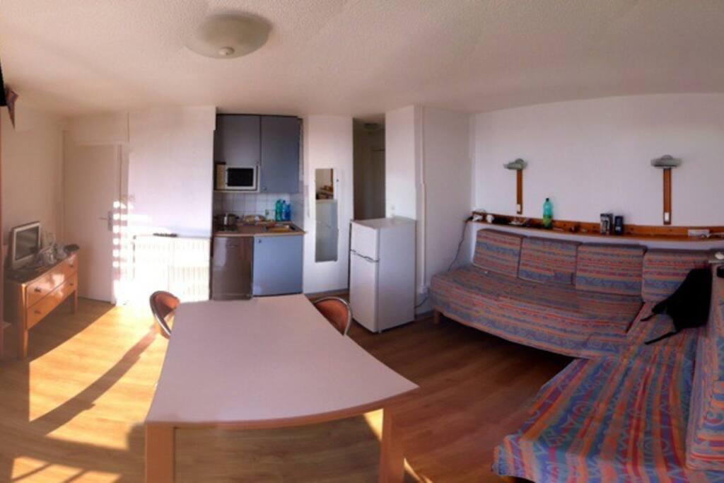 l'ambiance de l'appartement de 2 pièces