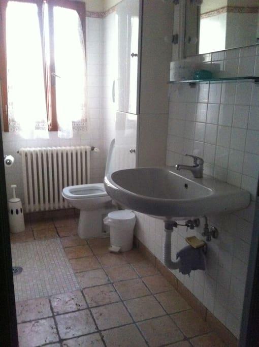 Shared bathroom & shower