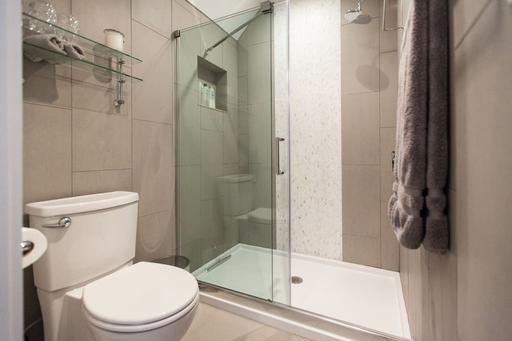 Private Bathroom. We provide all your towels and soaps.