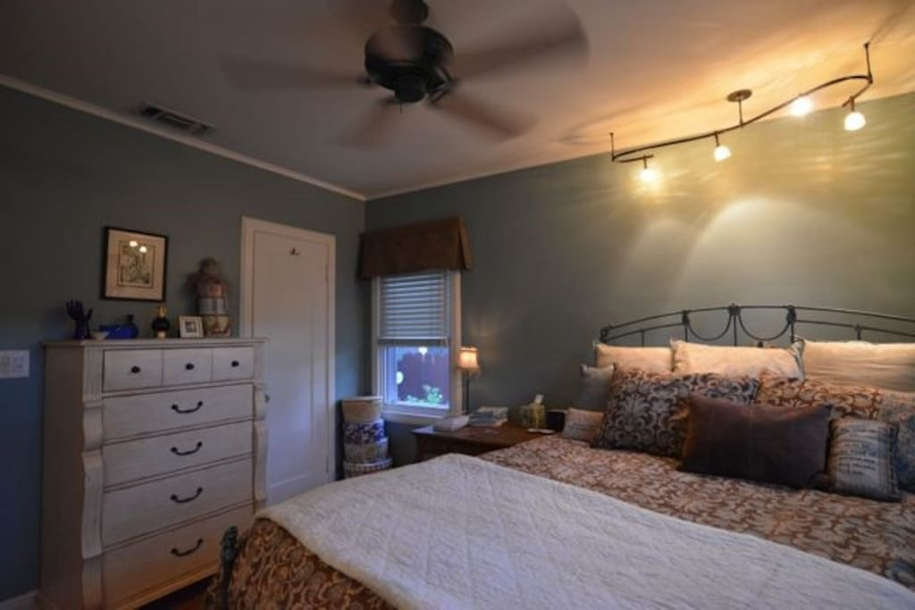 Guest room-all but 1 drawer in dresser are empty and available for your use.