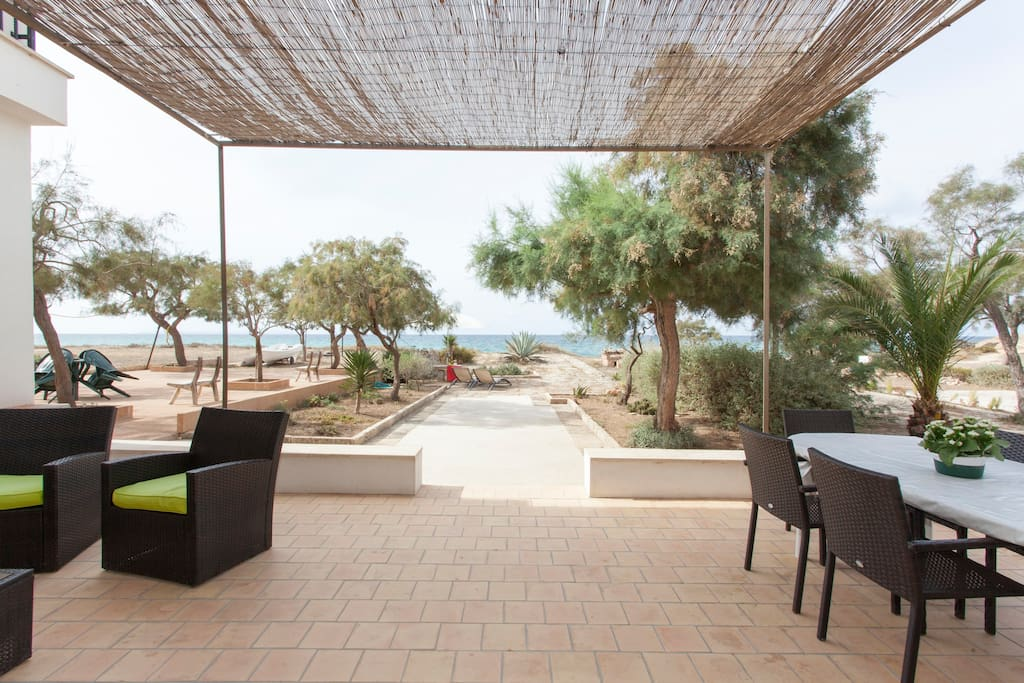 Private terrace in front of the sea