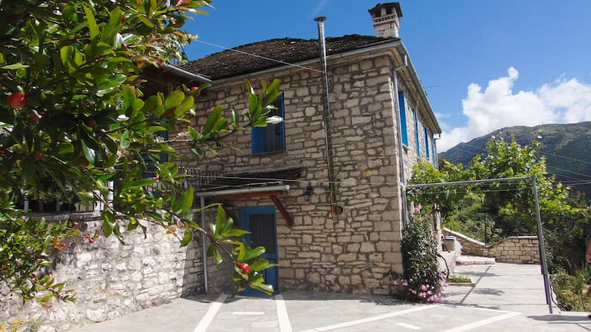 TRADITIONAL STONE HOUSE IN ZAGORI WITH A VIEW