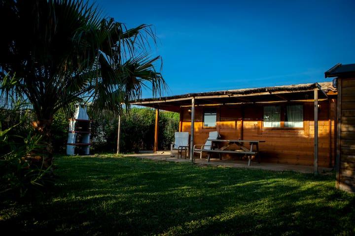 BUNGALOWS DE MADERA EN LA PLAYA - El Palmar - Cabaña