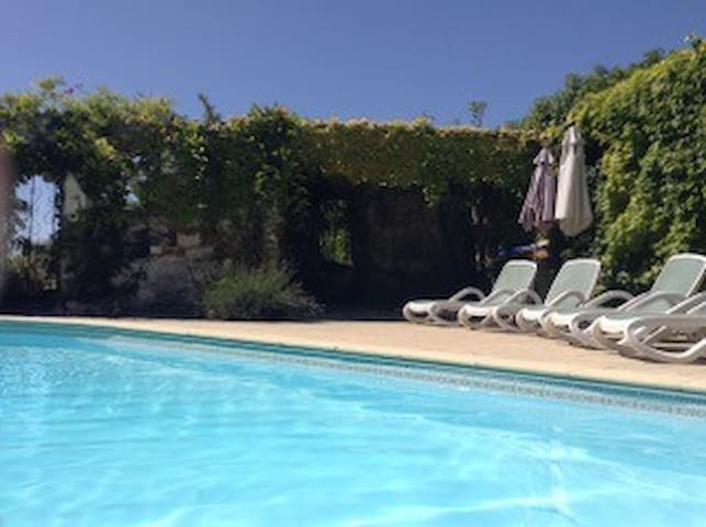 Swimming pool in the walled garden