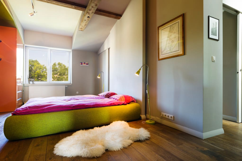 Master bedroom with kingsize double bed