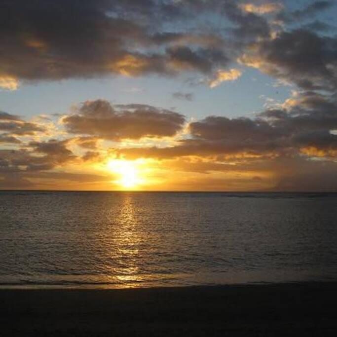 Beautiful Maui sunset outside our condo