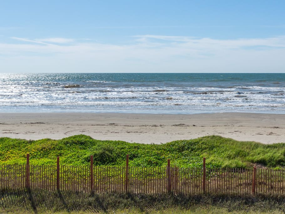 Our breezy, beachfront home is just seconds from the shore.