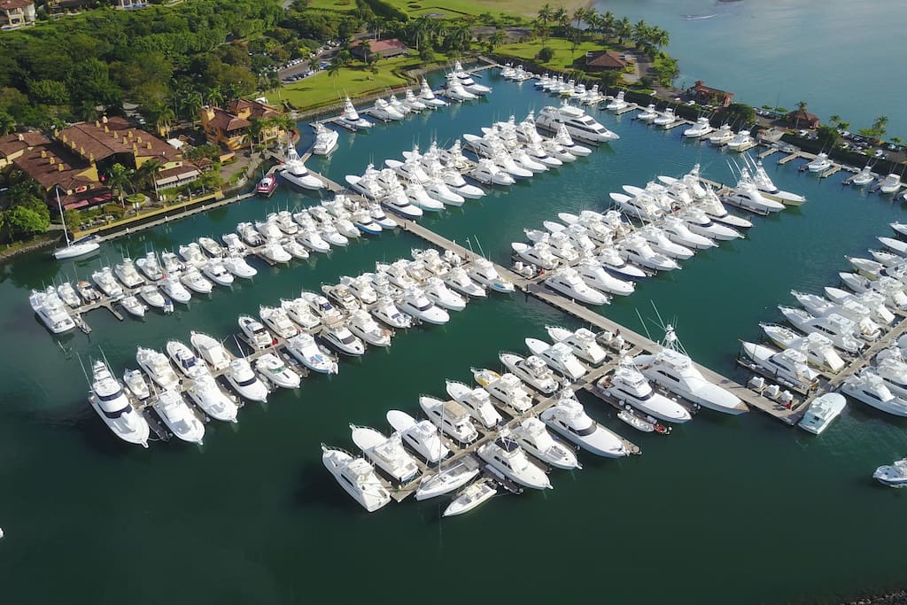 The Marina at the resort. The tropical waters offers some of the best sport fishing in the world.