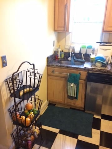 Kitchen--shared with the full time residents of the house.