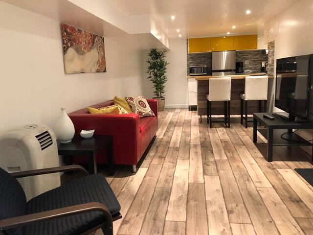 Stylish little basement apartment-Netflix-Private