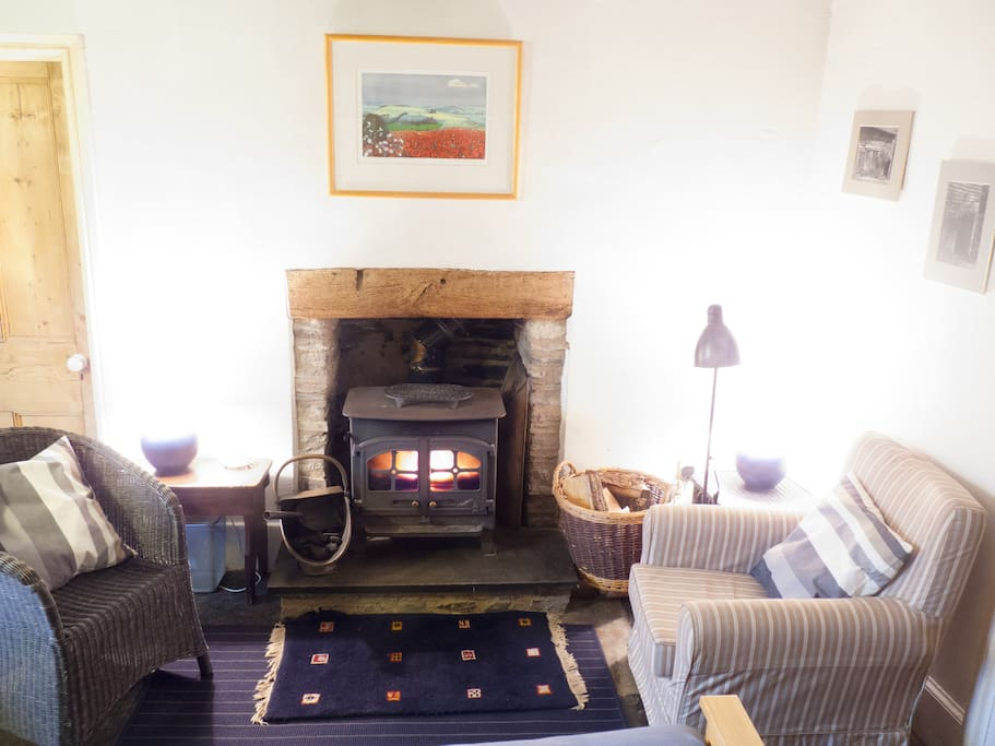 Lodge Cottage Living Room with Wood Burning Stove