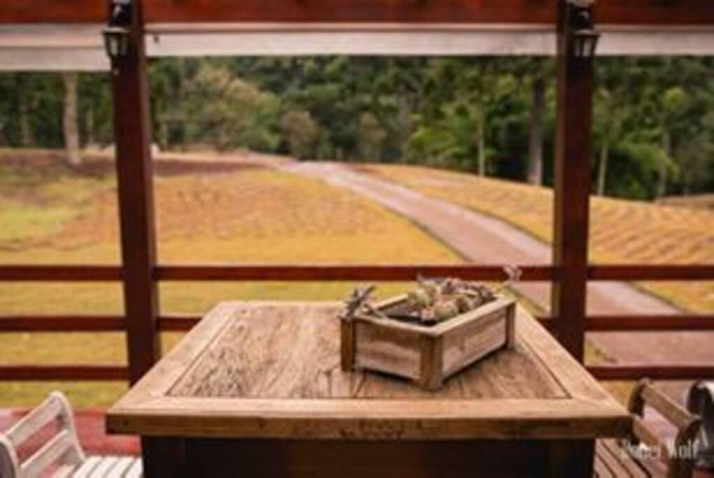 Deck com a vista externa