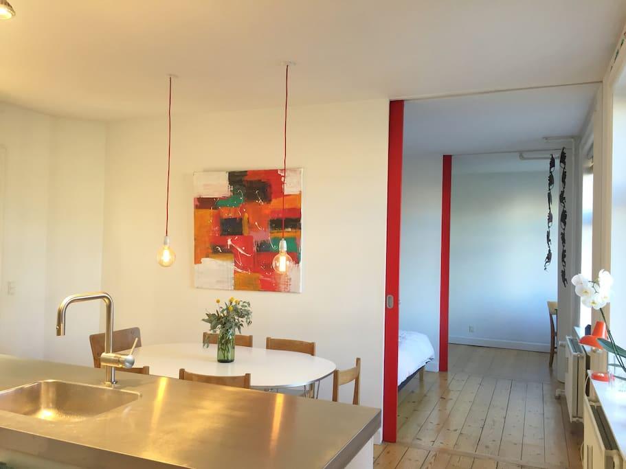 Kitchen - bedroom - study