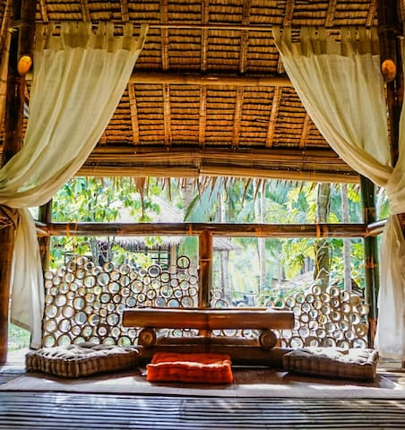 Bamboo cottage by the river - Loboc - Zomerhuis/Cottage