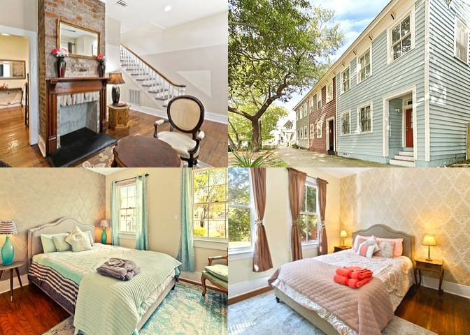 Historic 3-bedroom Two-story Townhouse, Downtown