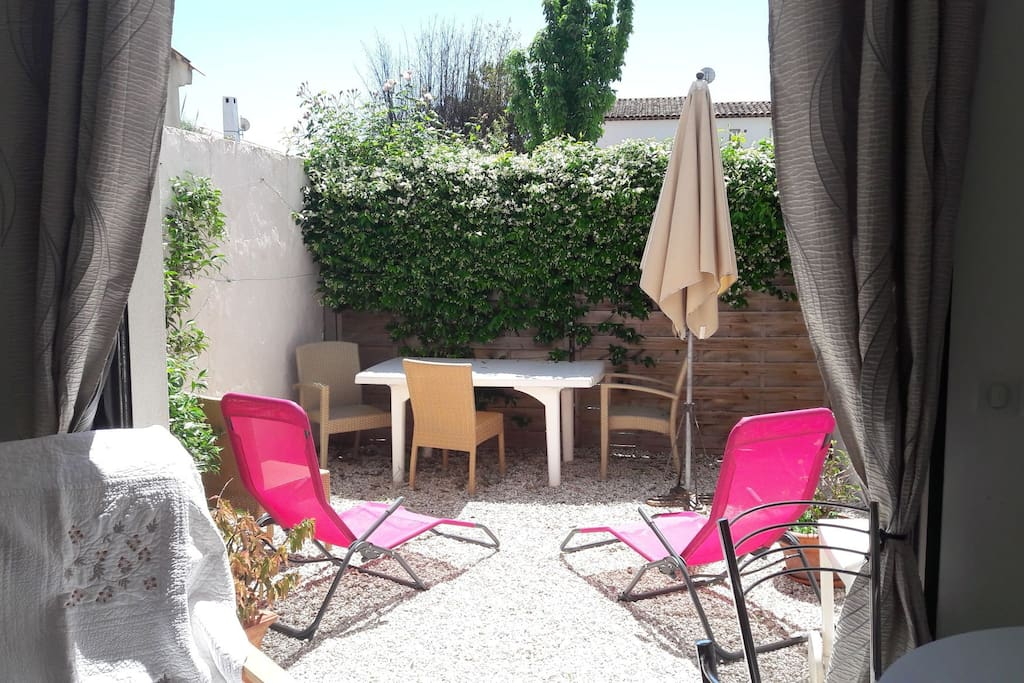res de jardin  de l appartement