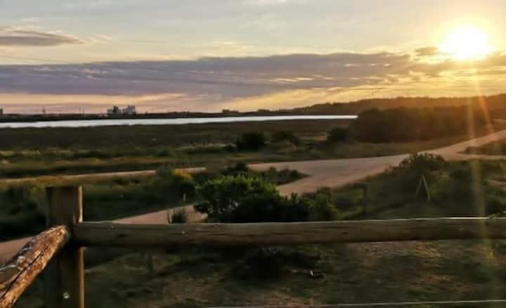 Terraza con vista a la Laguna a 100mt del Océano