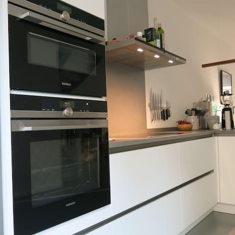 Open, spacious kitchen