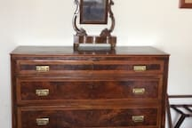 Master bedroom - antique chest of drawers