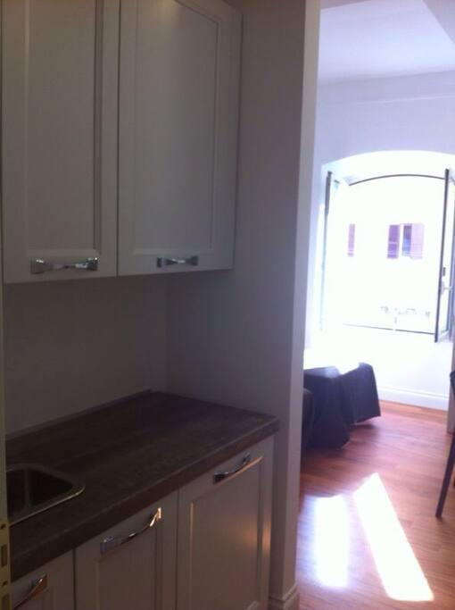 Cucina camera doppia