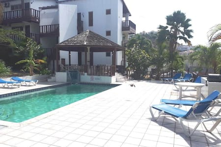 Tamarind hotel Apartment with pool and balcony.