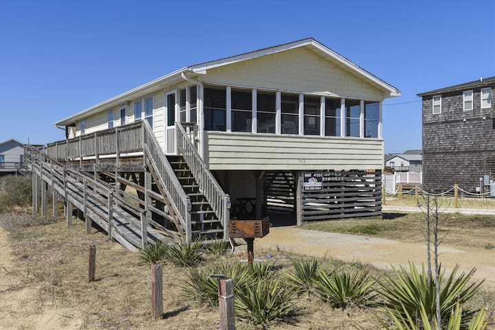 Beach Fin-Atic -- Kitty Hawk 3BR Semi Oceanfront Home with Free Activities