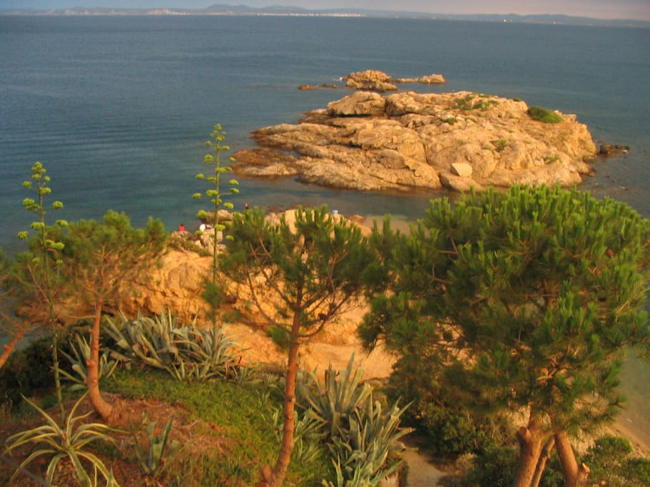Vistas a la la isla del Cap Bonifaci
