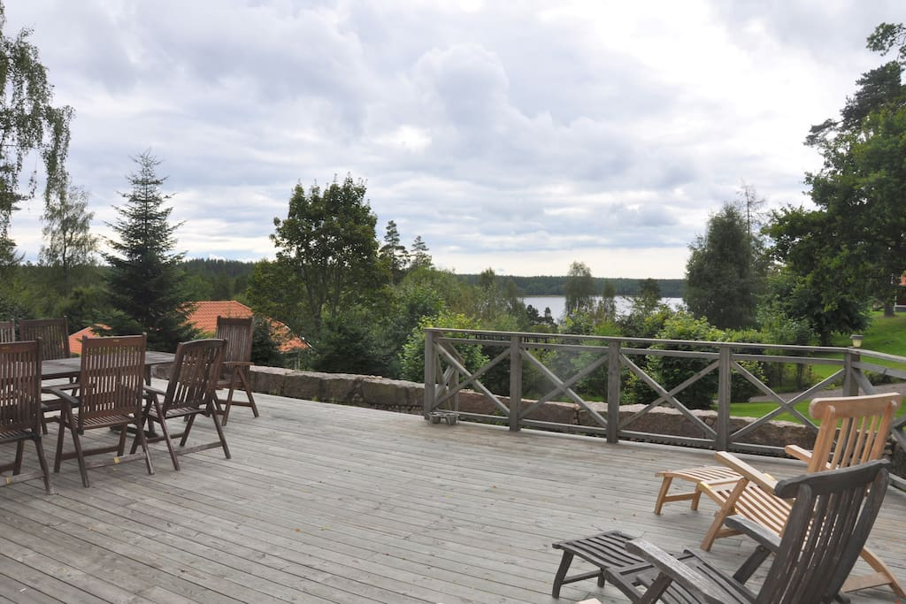 View from South facing deck overlooking the lake