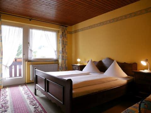Seebach-Hotel, (Seebach), Doppelzimmer mit Balkon, 24qm, max. 3 Person