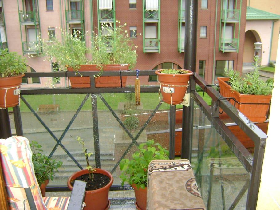 vista giardino dal terrazzo del salotto