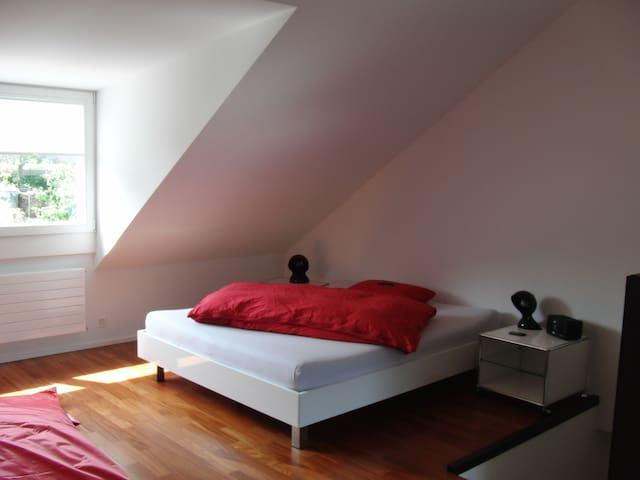 Large attic room with bathroom - Pratteln - Inap sarapan