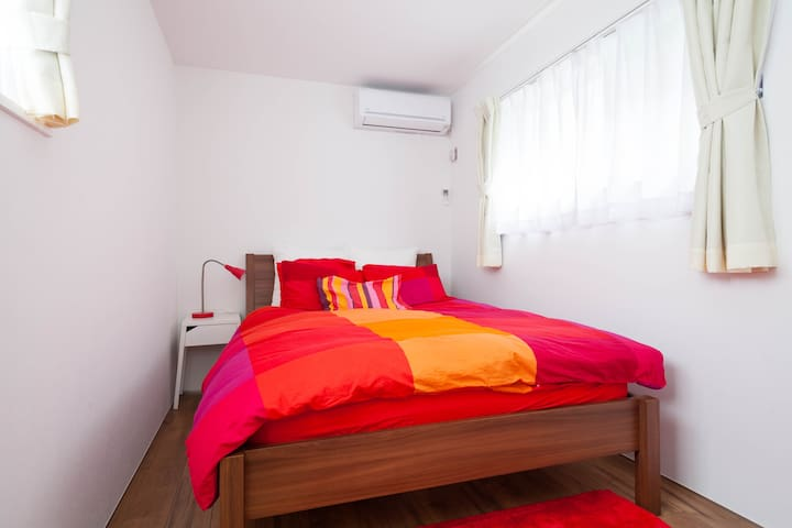 Bedroom 1 - double bed on the ground floor
