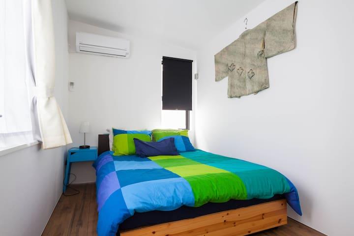 Bedroom 2 - Double bed on the top floor.