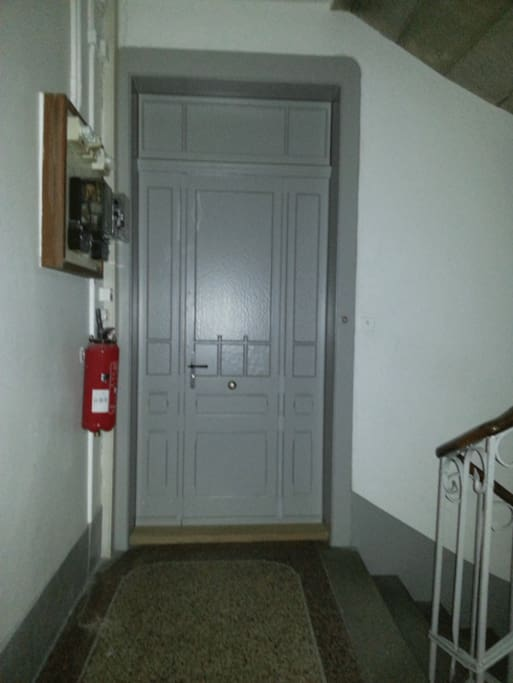 Entrance door in traditional, beautiful buiding (1905)