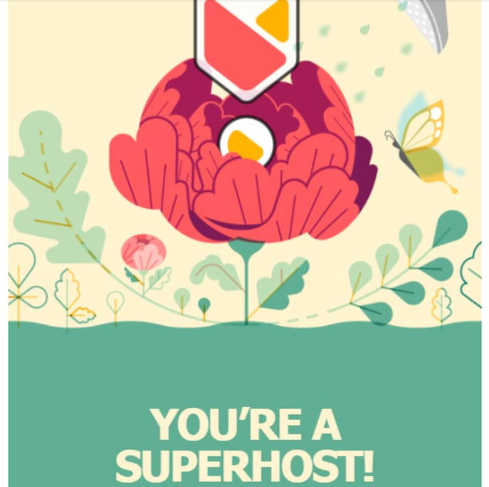 April 2018: Awarded Superhost status again. Thanks to all my guests for their positive endorsements.