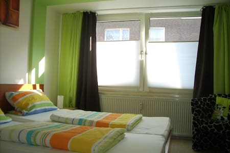 Bett im Pott-Holiday Flat Gasometer - Appartement
