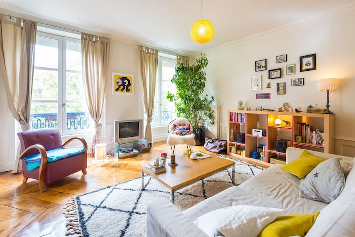Bright and quiet with Wooden floors - Lyon - Apartament