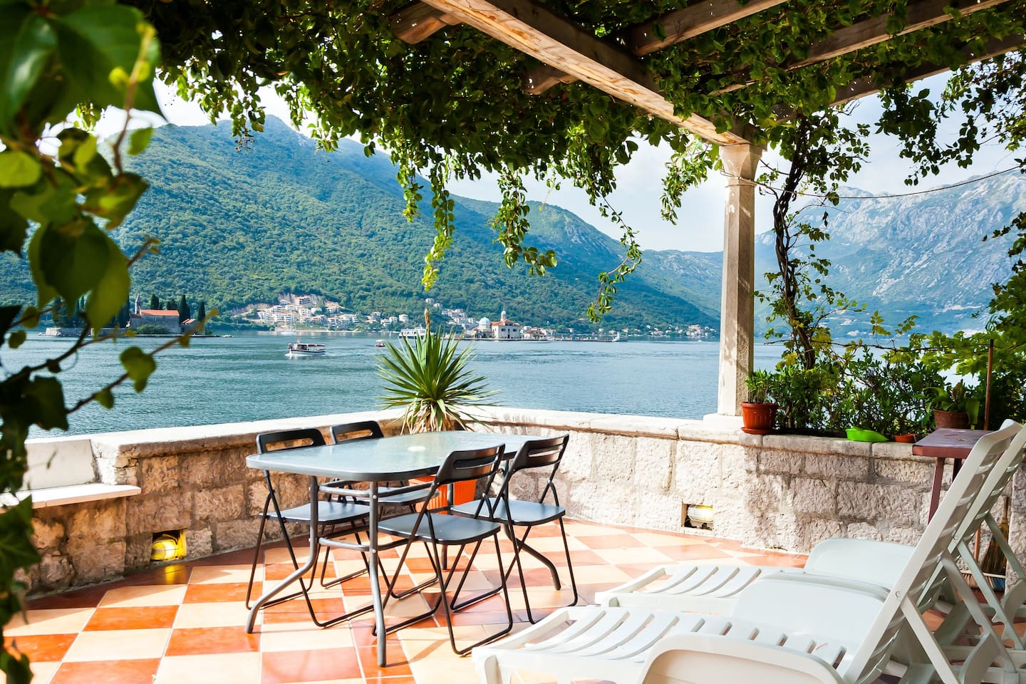 Private terrace of the apartment for relaxing, enjoying amazing views & soaking up some sun!