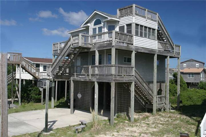 Shore-Nuf II Oceanside w/Screened porch, Close to Beach