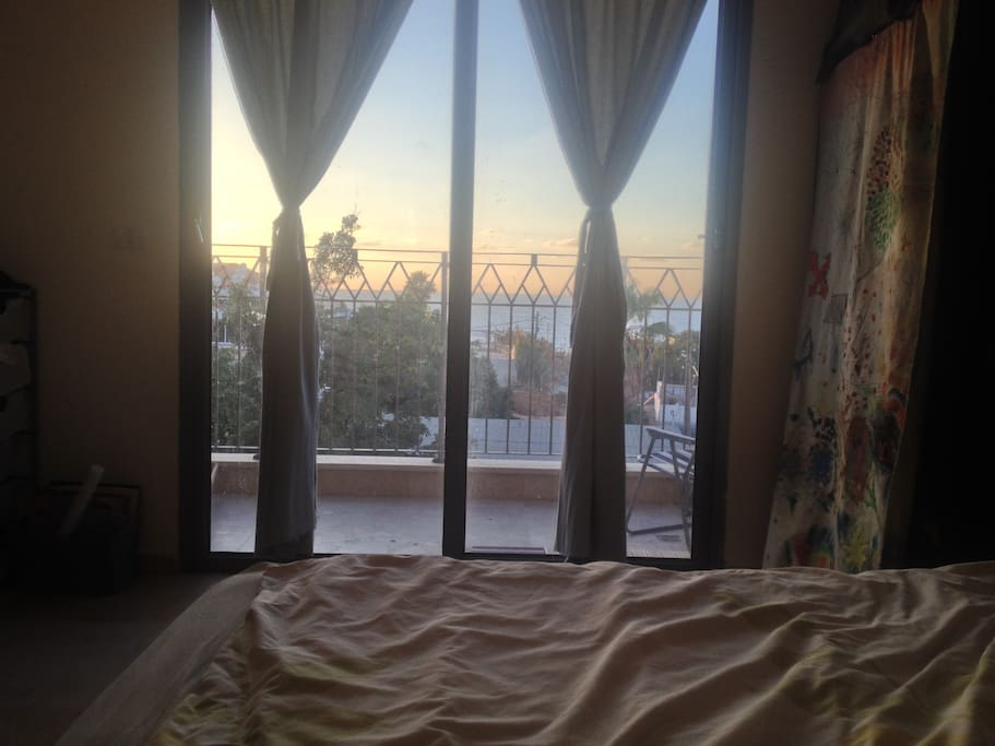 Can just chill on the king-size bed and watch the view.