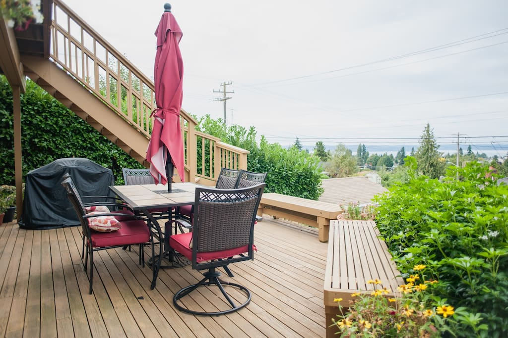 Your deck with the amazing view of Puget Sound