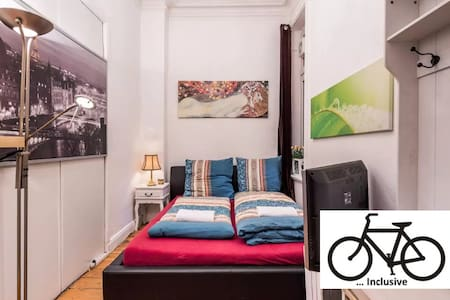 Just 7 minutes from Cental Station & free BIKES - Hamburg - Lägenhet