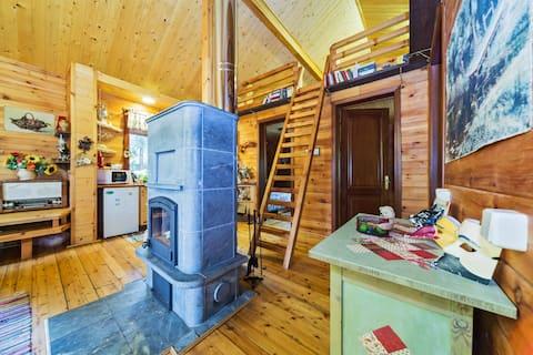Уютный дом из кедра в лесу и тишине