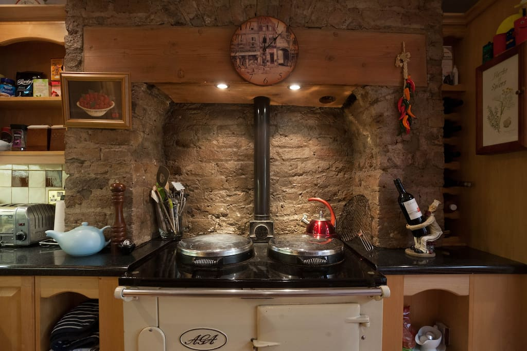 AGA cooker, meaning house is warm and toast all of the time!