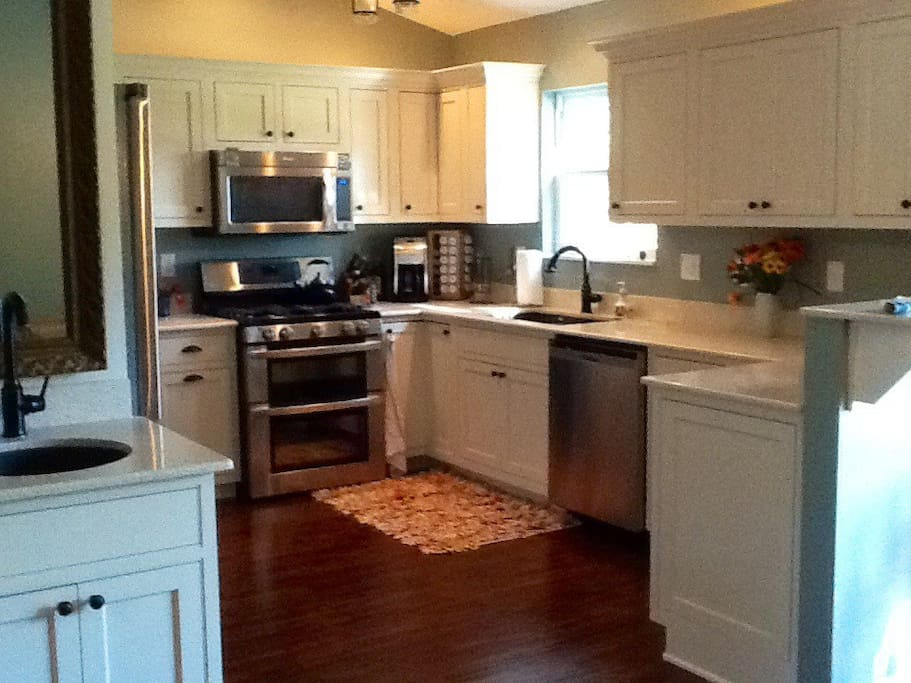 Spacious kitchen with lots of room to visit while you cook. All new appliances.