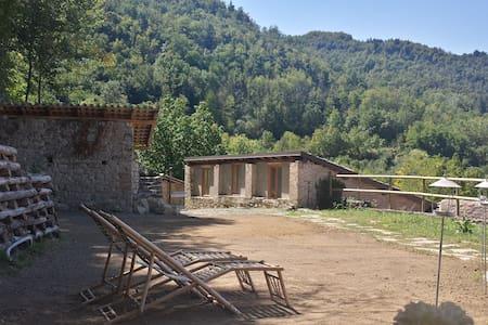 Intera casa in sasso con portici e giardini - Ponte Nizza - Talo