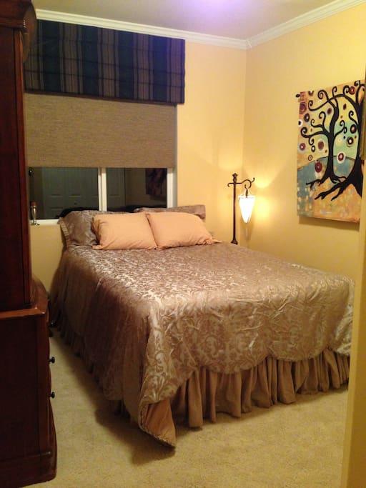 Your queen size bedroom awaits!