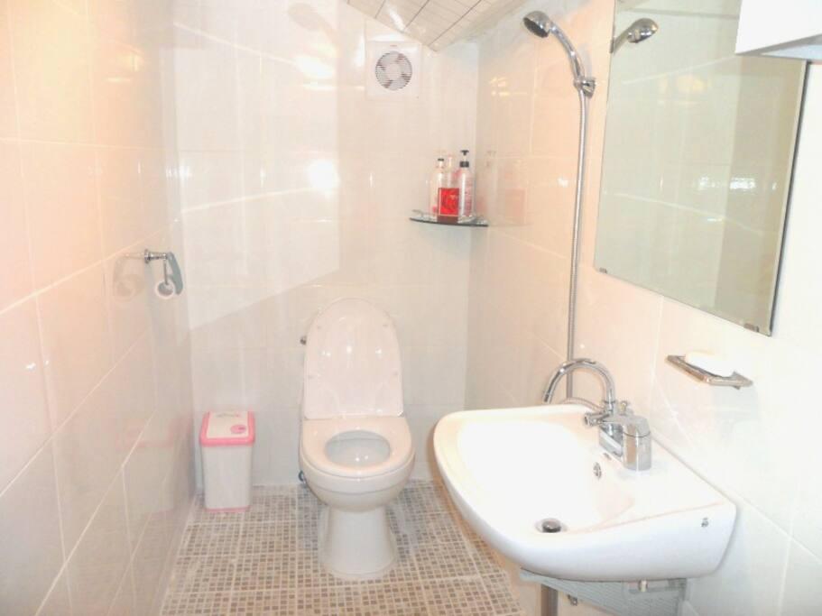 shower @ toilet